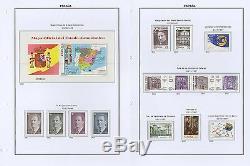 Espagne 3 Binder Album Complete Collection Sans Charnière 1956-1999 Mnh Luxe