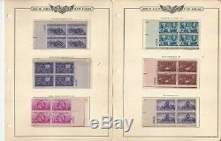 États-unis Timbre Collection Blocs Plate Menthe 1938-1948 Minkus Album, Jfz