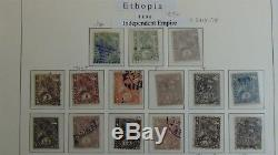 Ethiopie Vaste Collection De Timbres Dans L'album New Age Davo To'80s