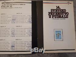 Fifa 1990 Italie 90 Wc Complète Yougoslavie Stamp Album Édition Rare