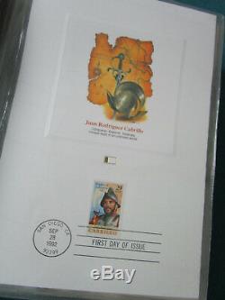 Fleetwood Preuve Carte Société De La Collection Stamp États-unis Album 1992-1995