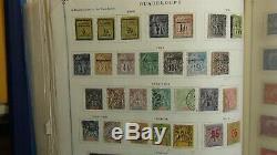 Français Collection De Timbres Colonies Dans L'album Scott Int'l Avec Est. 5.100 Ou Si