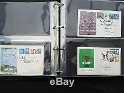 GB 1960 Présentation De Pack & Fdc Collection En Noir De Qualité Phare Album