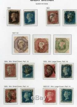 GB Collection Précieuse En Davo Album, De Nombreux Articles Coûteux 1840-1970 Penny Black