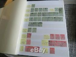 GB Grand Stamp Album Collection Énorme CV Perforés Etc Etc Inverted