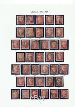 GB La Reine Victoria, Collection De La Plaque, 1er 6 Pages Windsor Album, Inc. Noir Penny