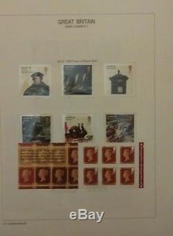 GB Mnh Collection Commémorative 1971-2016 En 3 Albums De Davo Face Value 1340 € +