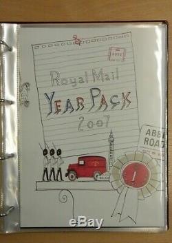 GB Royal Mail Pack Année Collection 2003 2007 En Album Valeur Nominale De £ 280.60
