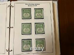Grande Collection De Timbres United States Revenue Des Années 1940-1950 Dans L'album Rare
