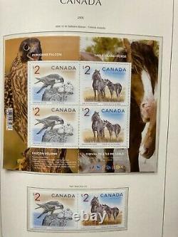 Immense Collection De Timbres Modernes Au Canada En 4 Albums Sans Charnières De Luxe Lighthouse