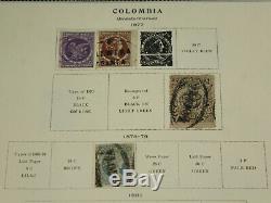 Incroyable Colombie Collection De Pages D'album De Timbres Scott, Early Classics, Atioquia ++