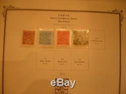 Indian États Feudataires Collection De Timbres Scott Specialty Album, Rivet Cassé