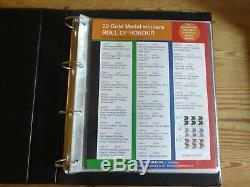 Jeux Olympiques De Londres 2012 Et Collection Complète De Timbre Paralympique Dans L'album