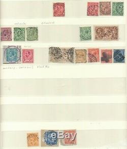 La Reine Victoria À La Collection George V De Oblitérations Inhabituelles Sur 7 Pages D'album Sur