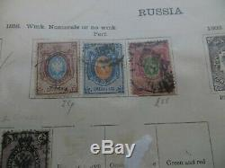 La Vieille Russie, Collection Timbre Sur La Page Album Quelques Objets Rares Tous Affichés