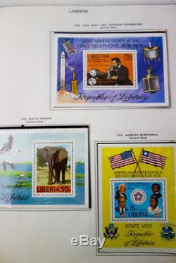 Libéria Timbres Mint 1976-1995 Collection Complète En Album