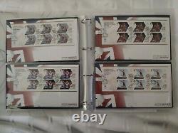 Londres 2012 Jeux Olympiques Premier Jour Cover Fdc Full Collection 29 Sheets & Album