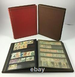 Lot 3 Albums Timbres Anciens Collections 1193 Timbres France Maroc Réunion H582