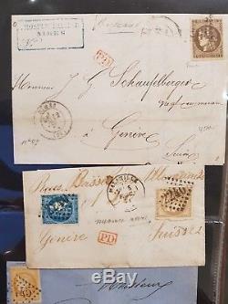 Lot # 322-1 France Collection Lettres Classiques Ceres Destinations En 2 Albums