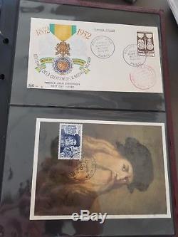 Lot # 322-4 France Collection & Vrac Fdc CM 1er Jour Dt Série & Rare En 3 Albums