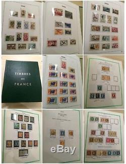 Lot # 34 France Collection Et Stock De Timbres 6 Albums Dont Yvert Davo Cote