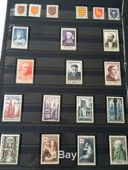 Lot # 74 France Collection Timbres Classiques Palettes Catalogue + 3 Albums Dt Yvert