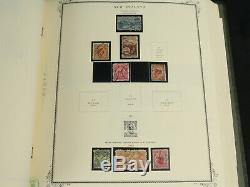 Magnifique Nouvelle-zélande Scott Specialty Stamp Album Paniers 1855-1986 Bob, Early ++