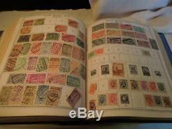 Minkus Suprême Mondial Chargé Stamp Album # 1 Sur 8 Timbres Nombreux Ad-bu Collection