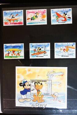 Monnaie Dans Le Monde Entier Vintage Disney Collection De Timbres Dans L'album