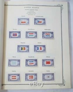 Old 1870-1967 Stamp Collection Dans Affranchissement Scotts Album Singles 3 Blocs 1045