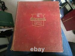 Old Strand Album Début Timbres Du Monde Collection 1850, Est Sur Les Rouges Beaucoup De Penny À L'arrière