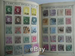 Old Time Go Et Dans Le Monde Entier Collection De Timbres De 3000 + Timbres Dans Un Album Lincoln
