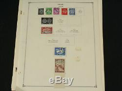 Palestine Et Israël Stamp Collection Lot Scott Album Pages Mint, Onglets, + Early