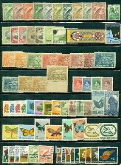Papouasie Nouvelle-guinée Collection 1901-85 Kabe Hingeless Album, Mint Nh/lh Scott 670 $