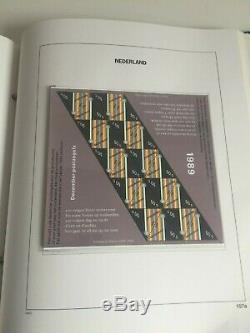 Pays-bas Complete Mint Mnh Collection Philatélique En Davo Album 1970-1989