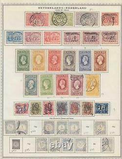 Pays-bas Vieux Intéressant Collection Sur L'album Pages Z428