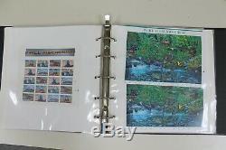 Plus De 660 $ Valeur Nominale Non Utilisée Mint Condition De Collection Timbres Album (v127)