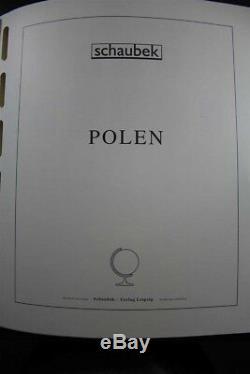 Pologne 1944-2008 Mnh Plus De 460 Pages Collection De Timbres De Schaubek Albums