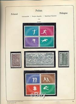 Pologne 1955/72 Collection D'album Abria Hingeless (plus De 1000) Alb824