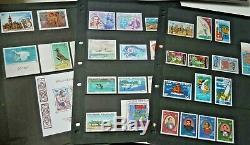 Polynésie Française 1966-1982 Xf Collection De Timbres Neufs Non Montés Neufs, 3 Pages De L'album