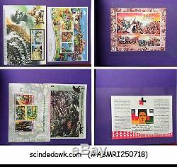 Pristine Collection De Feuilles Miniatures De L'inde Dans Un Album Custom Made