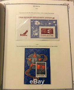 Russie / Urss Collection Scott Album 1964-1975, 1400 + Timbres Sur Hinges, S / S Mnh
