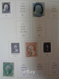 Scott Ancien Album De Collection Philatélique Nationale Des États-unis Avec Des Pages De Recettes 1847-1977