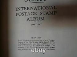 Scott International 6 Volume Album Collection W 7000+ Timbres Partie 1-6 1840-1968