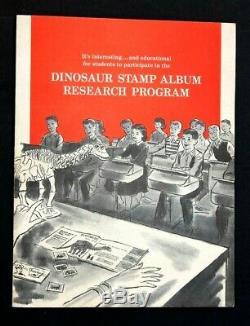 Sinclair Dinosaur Stamp Album Programme De Recherche 1959 Enseignants Kit Complet Échantillon