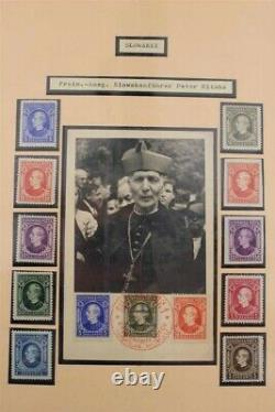 Slovaquie Seconde Guerre Mondiale 1935-1945 2 Albums Exhibition Premium Avec Signature Stamp Collection