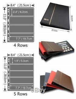 Stamp Album Collection Standard Book 20 Pages Fournitures De Haute Qualité F & S