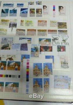 Stamp Collection Vintage Album Mint Timbres Australie Et Chinois Feuilles Blocs