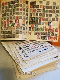 Tamponner Worldwide Collection Lot Énorme De Plus De 6 Livres Album Pages Cartes Stock