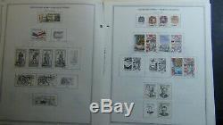Tchécoslovaquie Collection De Timbre Sur Les Pages D'album Minkus Avec 2.100 Ou Si To'91